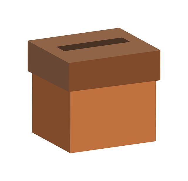 Billede af en stemmeboks